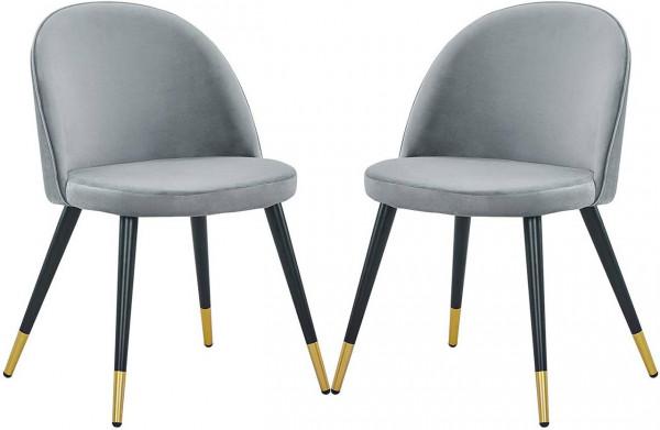 2er-Set Esszimmerstühle aus Samt - Modell Jonas