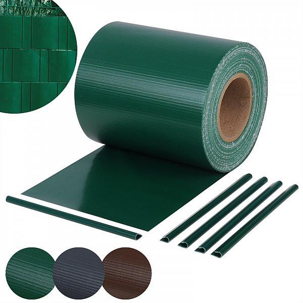 Sichtschutzstreifen 450g/m² inkl, 25 Stücke Klemmenclips , Grün
