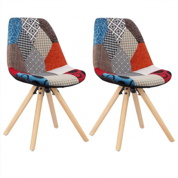 Esszimmerstühle 2er-Set Küchenstuhl Kunstleder oder Leinen