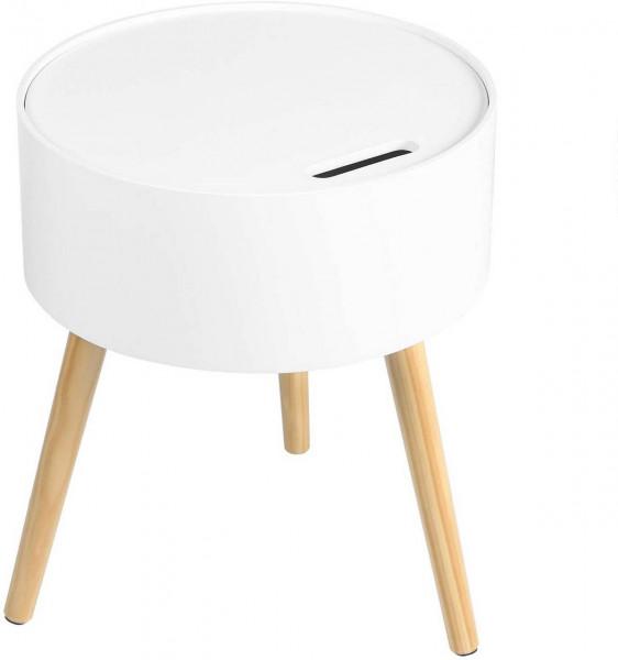 Nachttisch & Nachtkommode aus Holz in eleganter Stil weiß