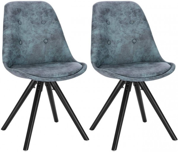 2 pieces fabric dining chairs - Model Angelina