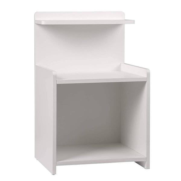 Nachttisch mit Ablagefläche aus MDF, weiß