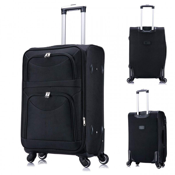 Luxury Suitcase Durable Oxford Lightweight Hand Luggage 4 Wheel Expandable Cabin