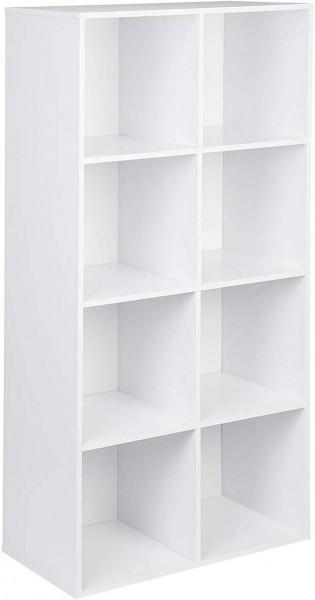 Bücherregal mit 8 Fächern Modell Kuep weiß