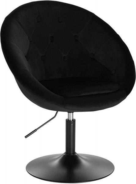 Lounge chair with velvet armrest - model Timo