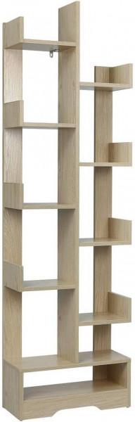 Bücherregal Standregal für Dekorationen 48x20x162cm Eiche Hell