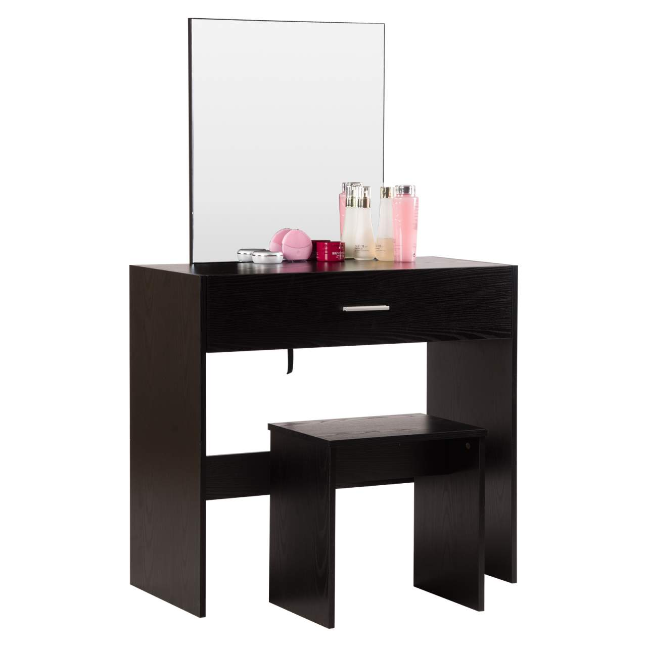 dressing table with mirror stool and drawer