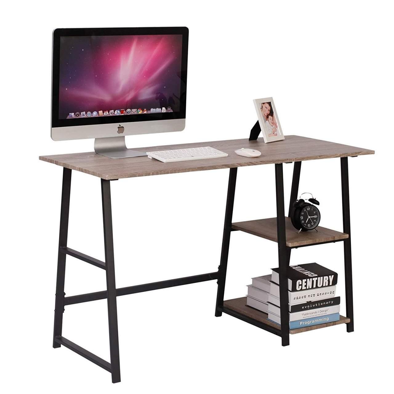 - Computer Desk 2 Shelves For Ample Storage Study Woltu.eu