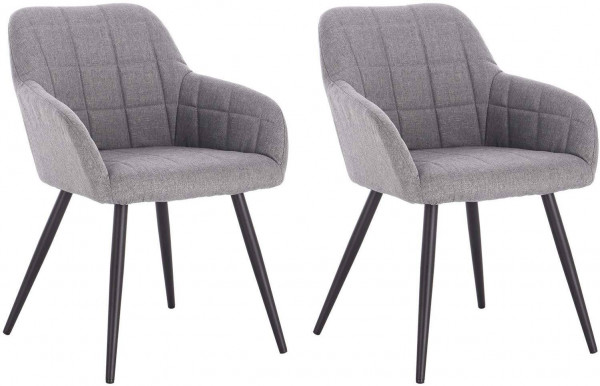 2 pieces linen dining chairs - Model Elegant