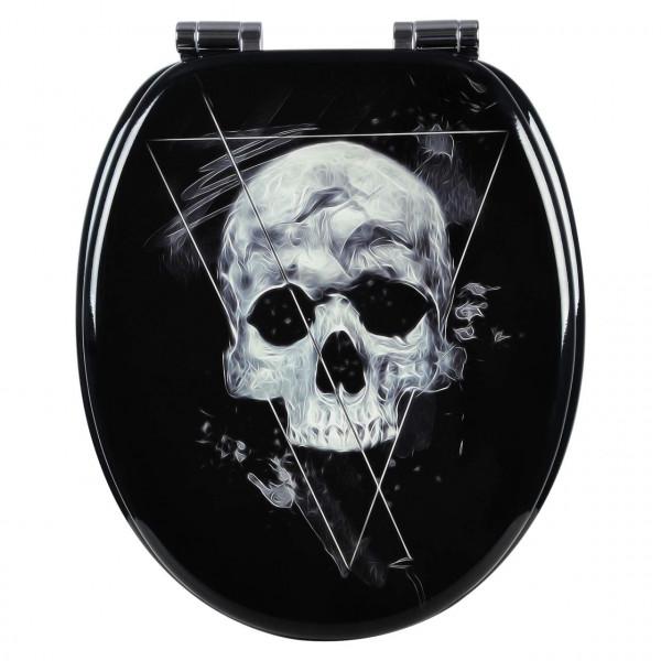 Toilettensitz MDF mit Absenkautomatik Skull Black