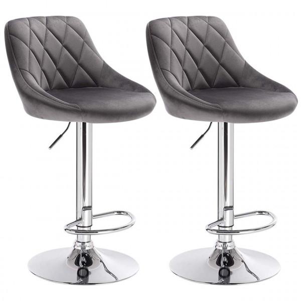 velvet Bar stool, 2pcs set, model Jon