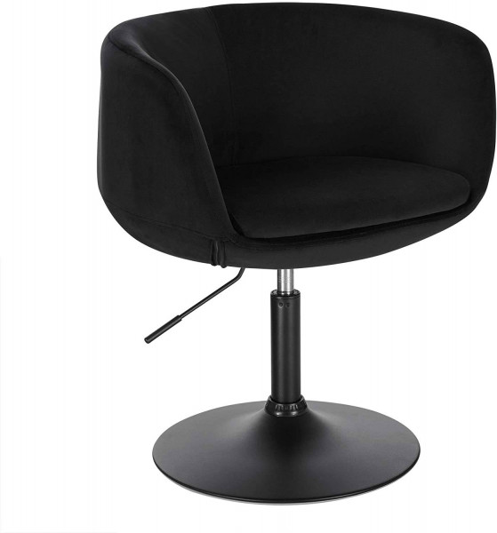 Velvet bar armchair with armrests