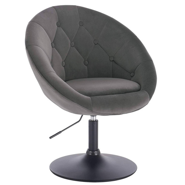 Lounge chair with velvet armrest - model Timo