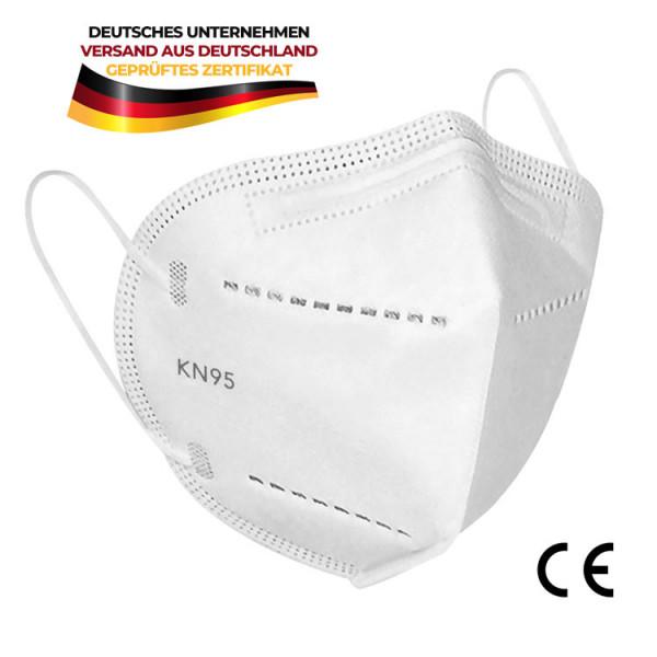 15x Atemschutzmaske Mundschutz KN95 (N95) adäquat zu FFP2 weiß