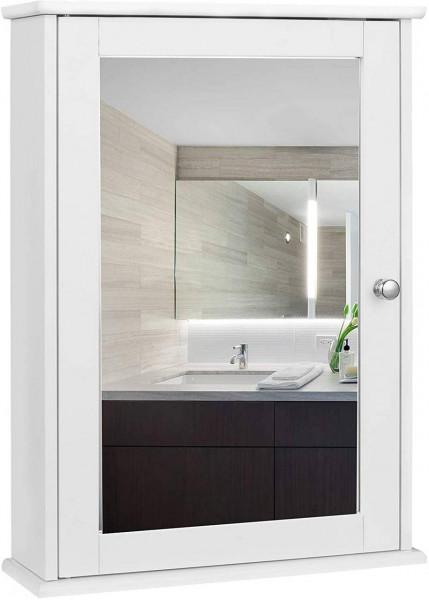 Spiegelschrank im Landhausstil aus Holz, weiß