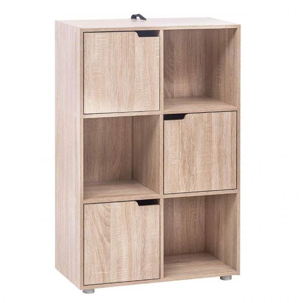 Bücherregal mit 3 Türen aus MDF
