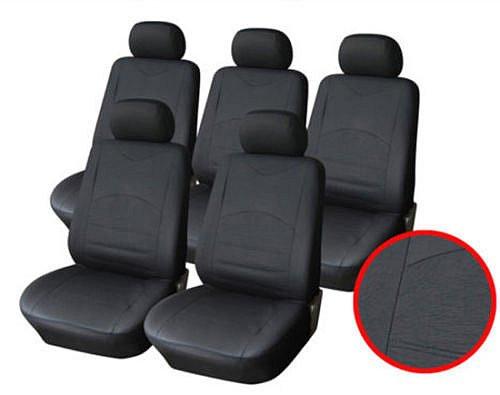 Auto Sitzbezüge Schwarz (5er Set)