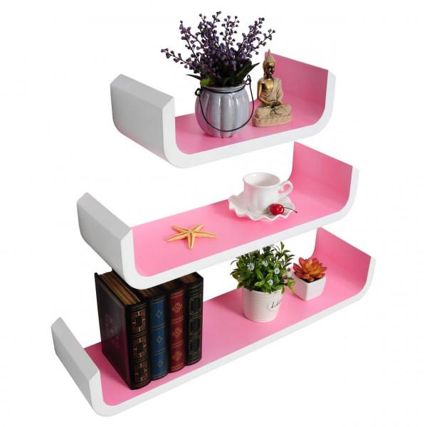 Set of 3 wall shelf model sun