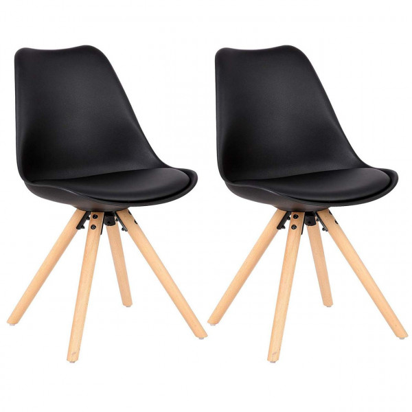 2 pieces faux leather dining chairs - Model Nei