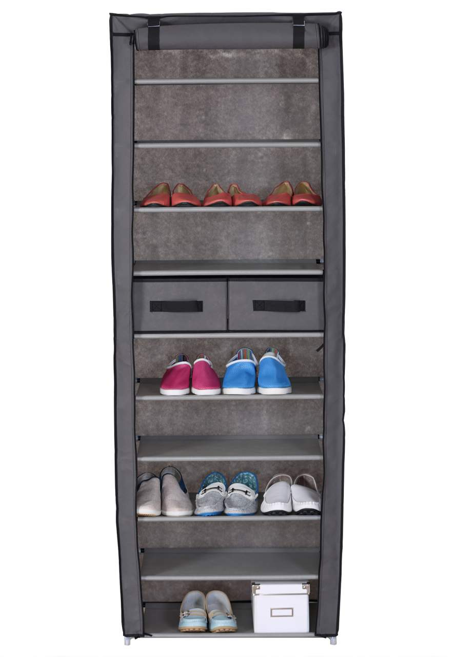 10 Tiers Shoe Rack With 2 Drawers Shoes Standing Storage Organizer Woltu Eu