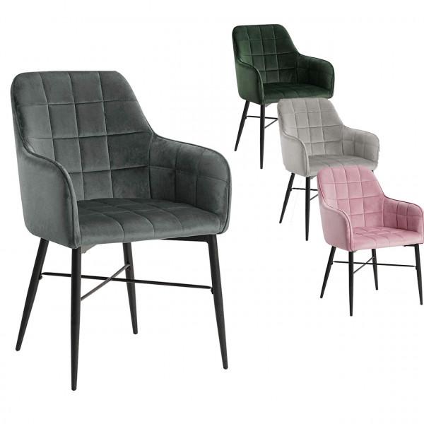 Velvet dining chair - Model Hanna