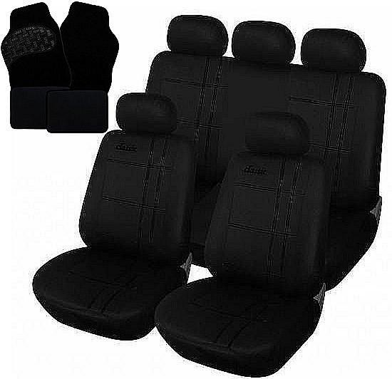 Auto Sitzbezug + Fußmatten Schwarz