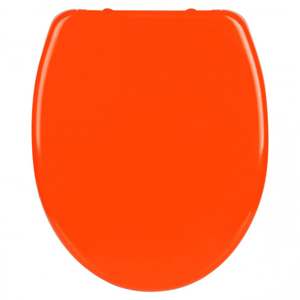 WC-Sitz Duroplast orange mit Absenkautomatik