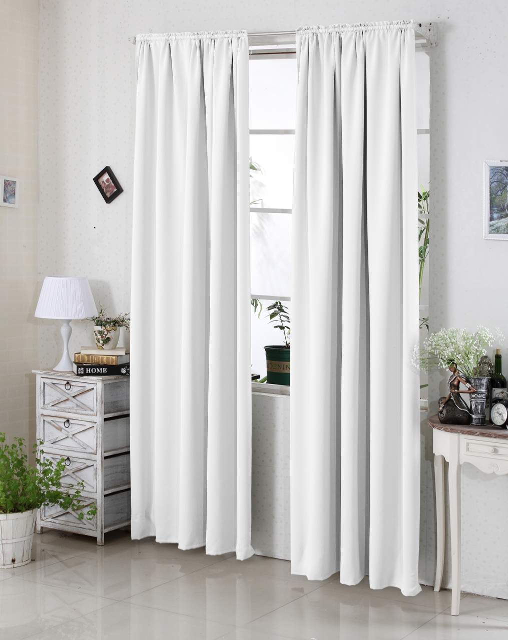 Curtains Pencil Pleat Blackout Curtains Thermal Insulated Tape Top Curtain Panels For Bedroom Woltu Eu