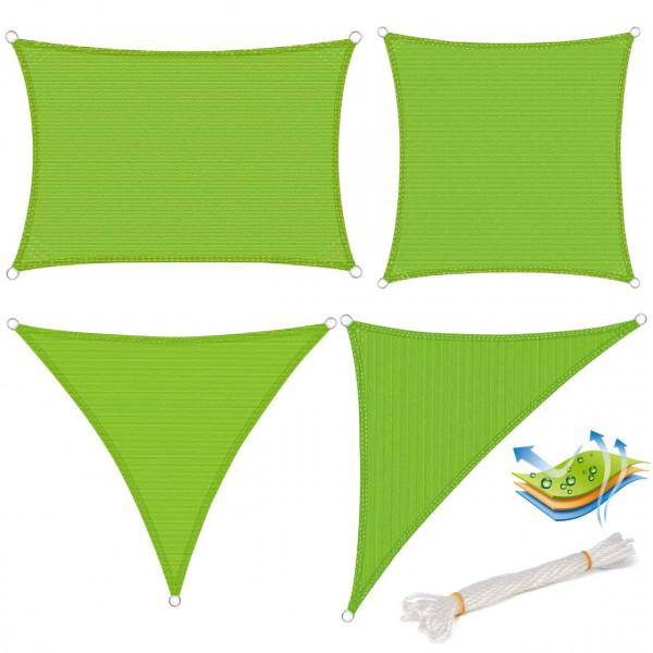 Sonnensegel Sonnenschutz HDPE Windschutz UV Schutz Grün