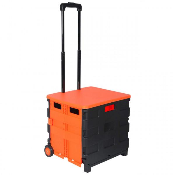 Einkaufswagen mit Deckel gross Orange