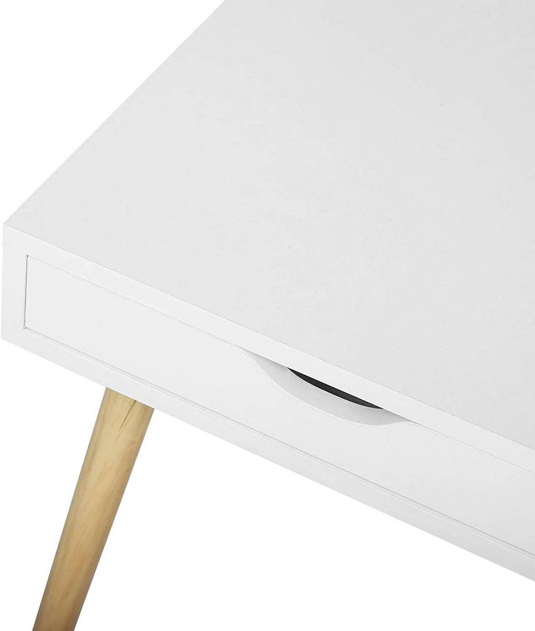 Bedside Table Made Of Wooden White Woltu Eu