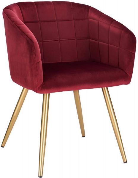 Esszimmerstuhl aus Samt goldene Beine Modell Annika