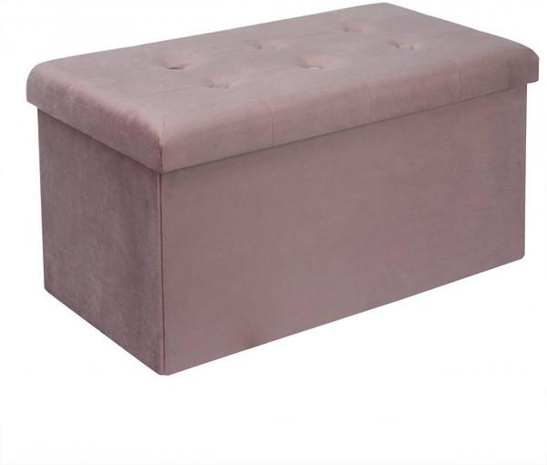 Sitzhocker mit Stauraum, Deckel abnehmbar Qulina, rosa