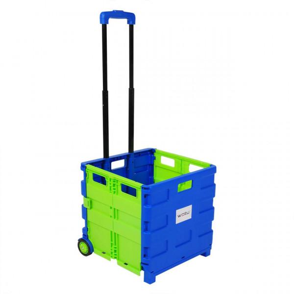 Einkaufswagen ohne Deckel gross Blau-Grün