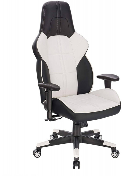Gaming chair made of synthetic leather with rocker function 90-135 °