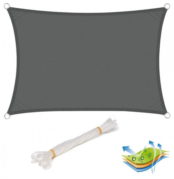 Sonnensegel Sonnenschutz PES Windschutz UV Schutz grau