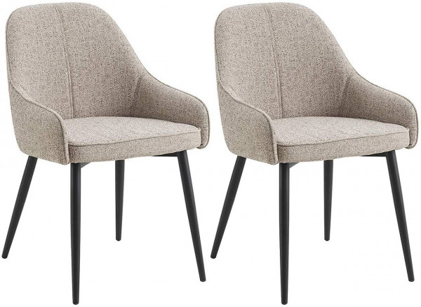 2 pieces dining chairs linen - Model Luis