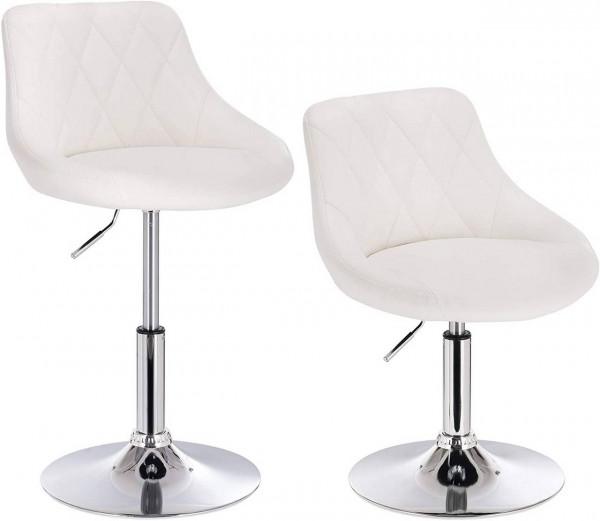 Set of 2 velvet bar stools - model Sonia
