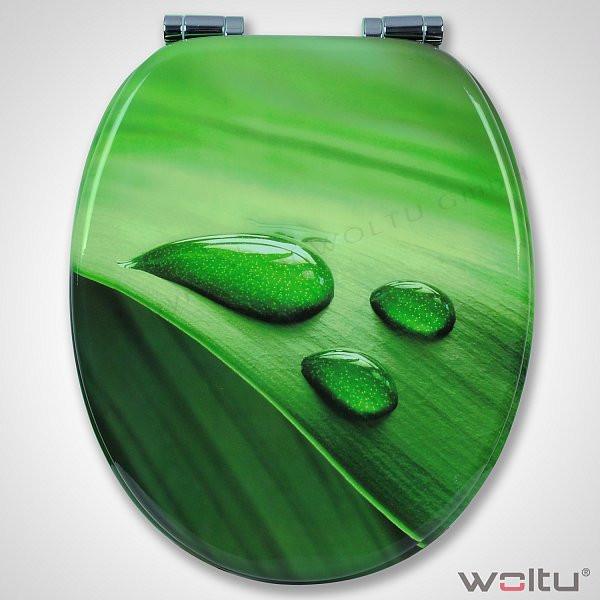 WC-Sitz MDF Blatt Grün mit Absenkautomatik