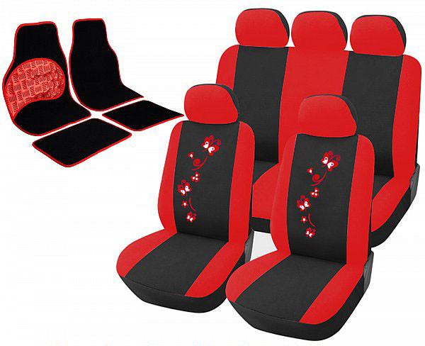 Sitzbezug für PKW ohne Seitenairbag, mit Fußmatten Set AS7250_7148