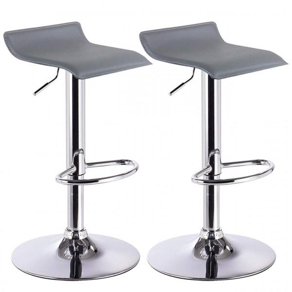 2 x Bar Stools Faux Leather Kitchen Stools Model Celin