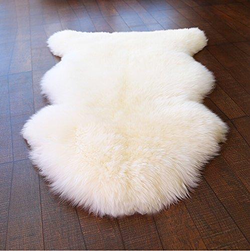 SHEEPSKIN RUG WHITE 100/%NATURAL AMAIZING SOFT 100-110