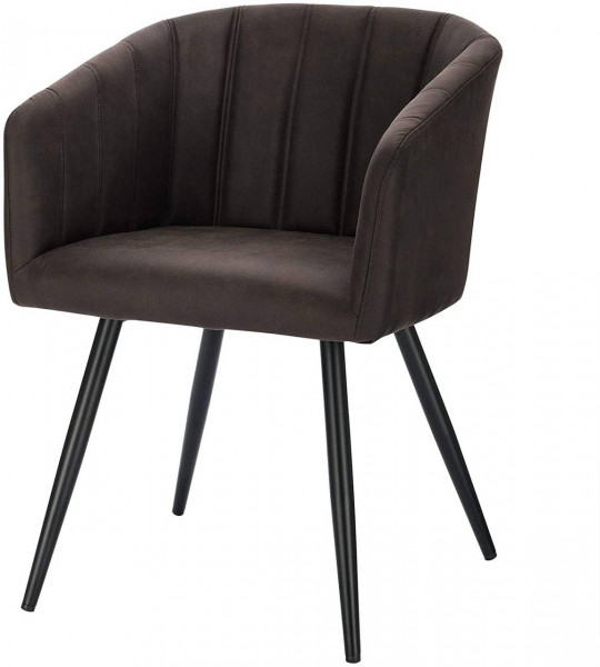 Kitchen chair in fabric, metal frame - Annika model