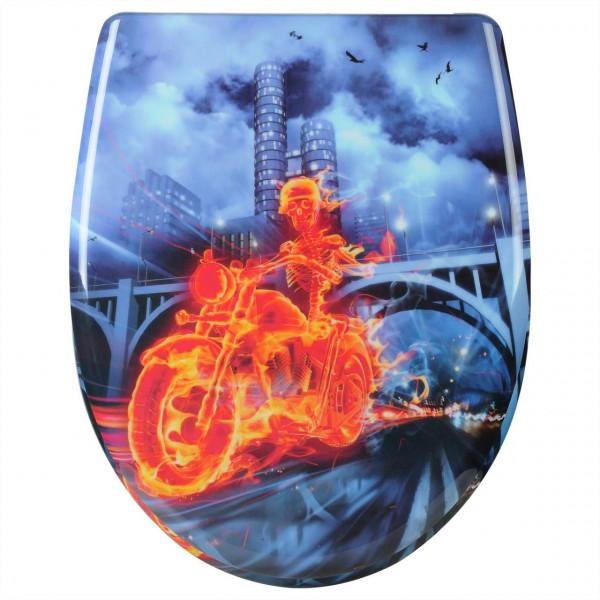 WC-Sitz Duroplast rider on fire mit Absenkautomatik und Schnellbefestigung