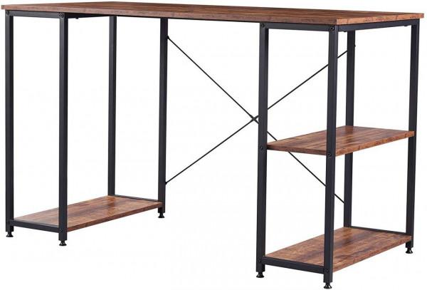 Schreibtisch mit Bücherregalen Modell Jason,schwarz-vintage