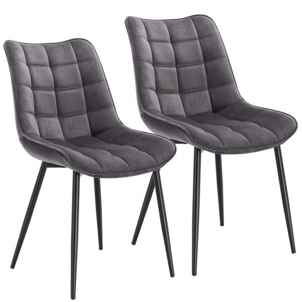 2 pieces velvet kitchen chairs - Model Elif