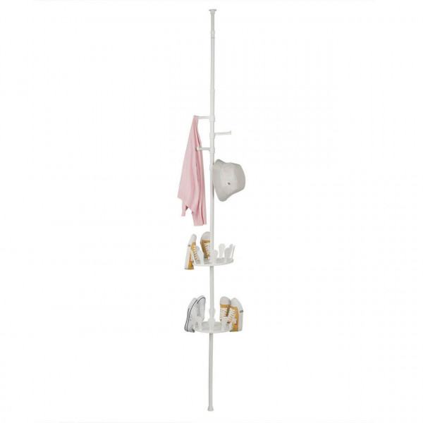 Kleiderständer Kleiderhaken aus Kunststoff, verstellbar weiß
