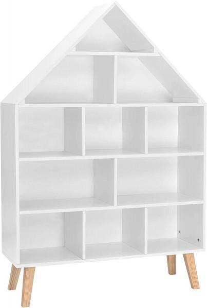 Kinder Bücherregal Hausform Kinderregal mit 5 Ebenen weiß