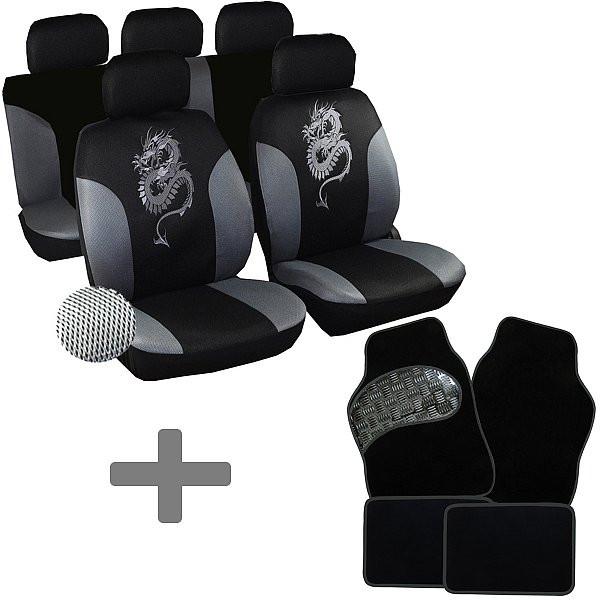 Auto Sitzbezüge + Fußmatten Grau