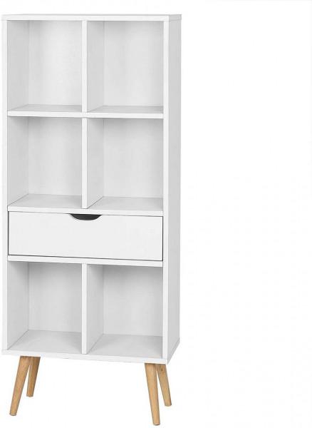 Bücherregal aus MDF mit Schublade Kuep weiß